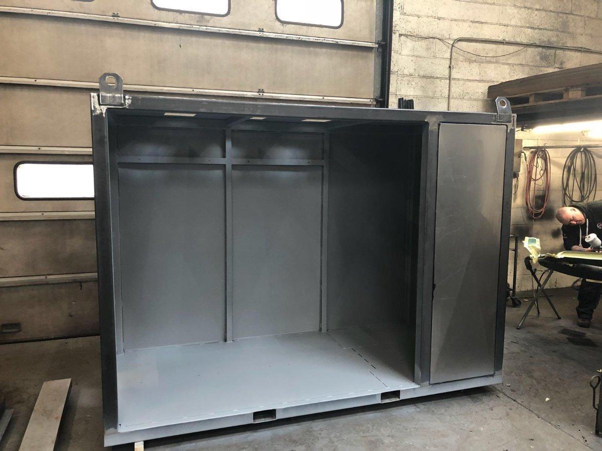 Service 2 custom made temporary boiler housing