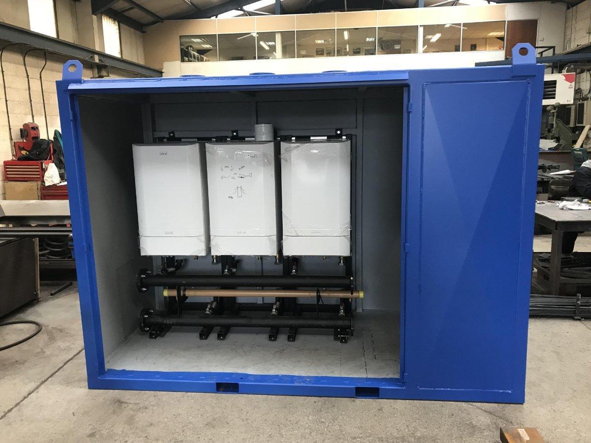 Service 2 custom made temporary boiler system