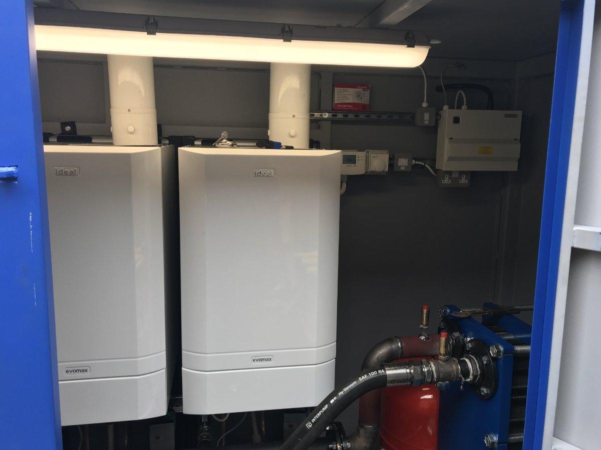 Service 2 custom made temporary boiler installations