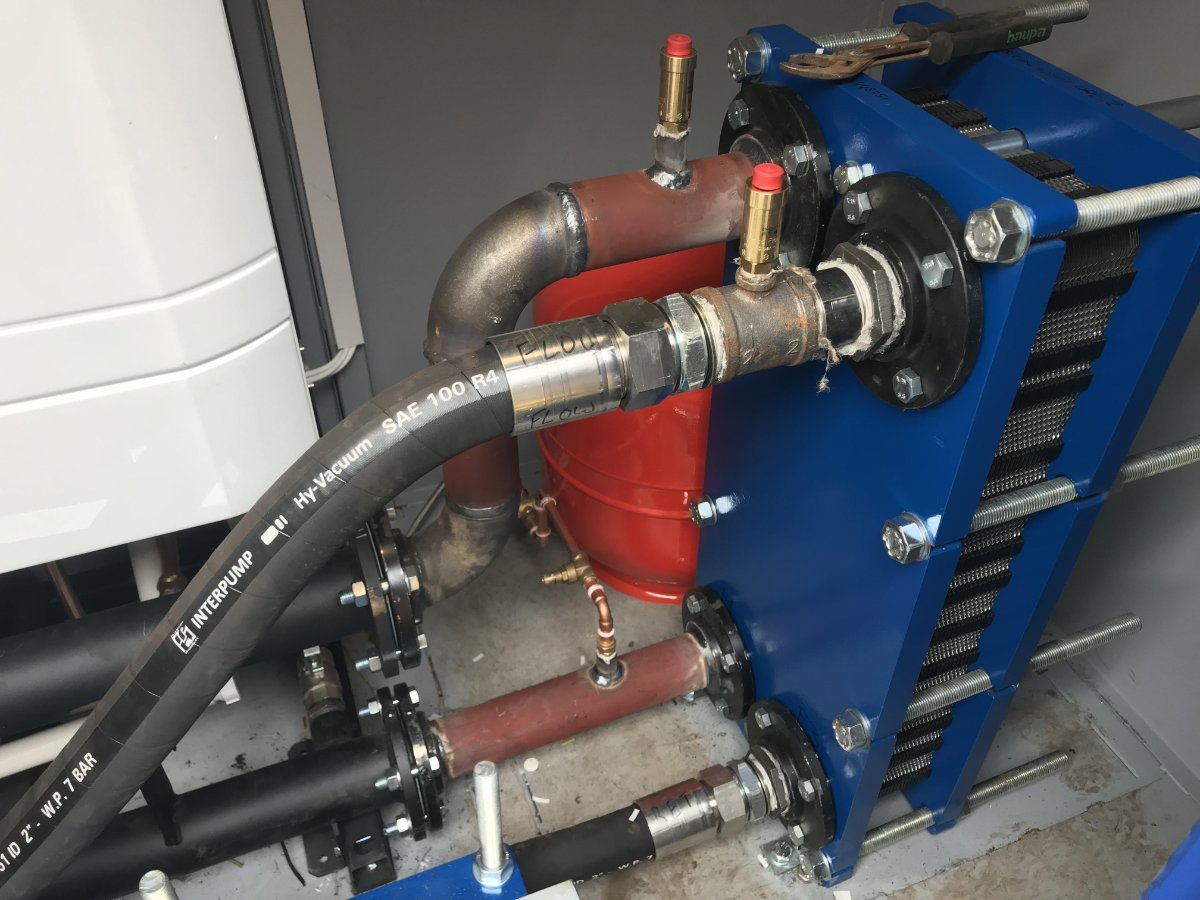 Service 2 custom made temporary boiler piping