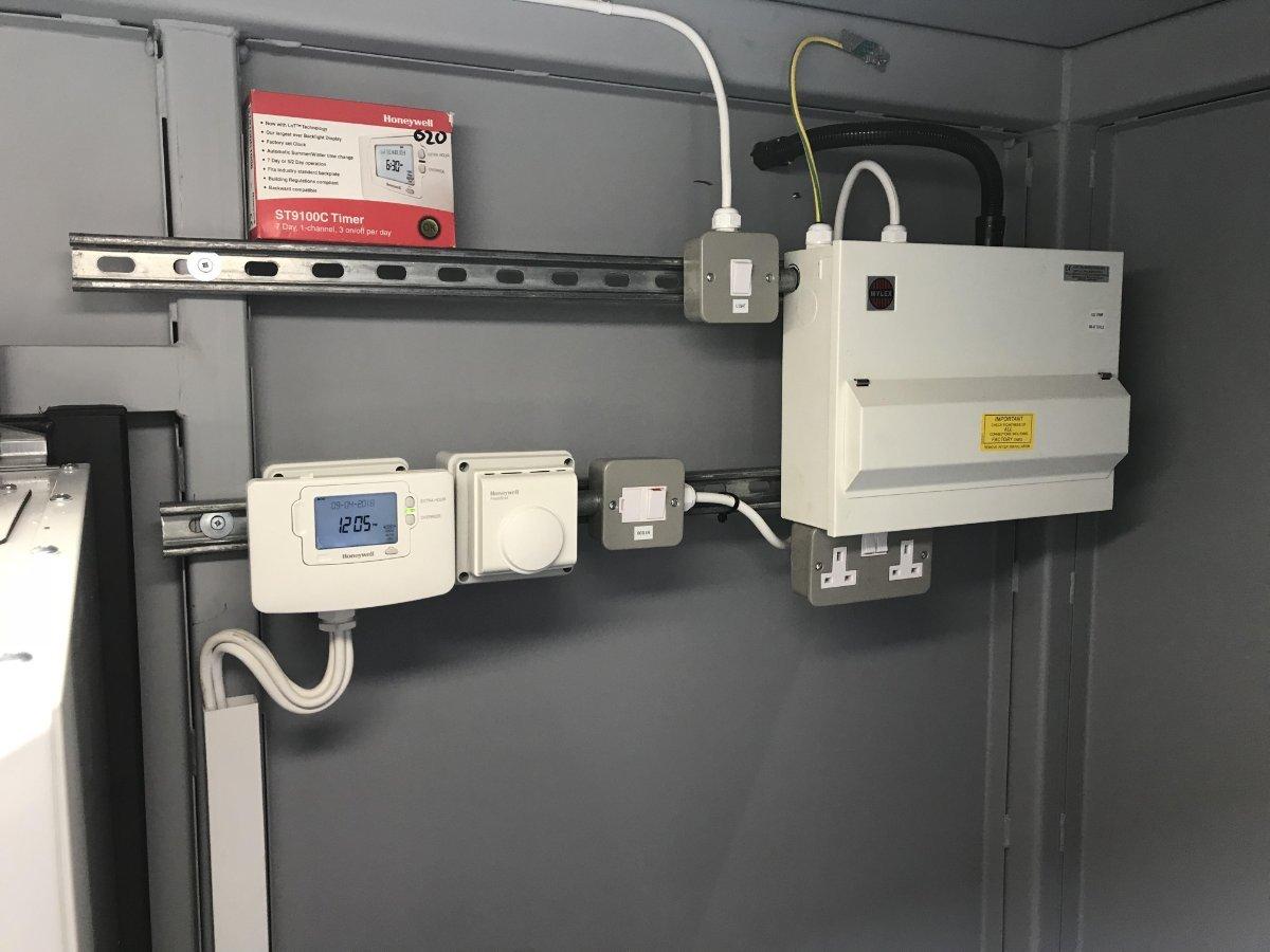 Service 2 custom made temporary boiler unit
